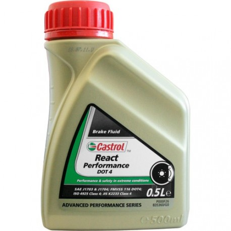 castrol brake fluid dot 4 bidon 0 5l et 5l liquide de frein. Black Bedroom Furniture Sets. Home Design Ideas