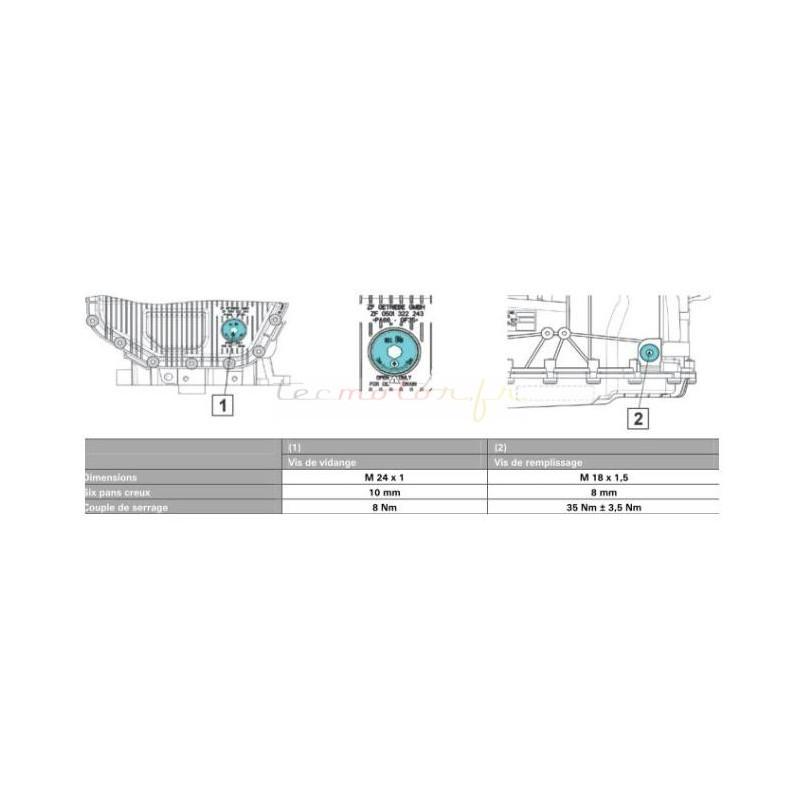 kit vidange zf pour boite automatique bmw s rie 5 e60 530 i. Black Bedroom Furniture Sets. Home Design Ideas
