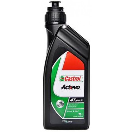 castrol act evo 4t 20w 50 bidon 1l huile moteur moto. Black Bedroom Furniture Sets. Home Design Ideas
