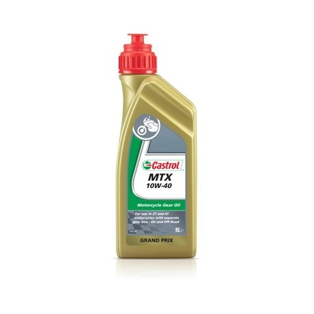 castrol mtx 10w 40 bidon 1l huile pour boite vitesse moto. Black Bedroom Furniture Sets. Home Design Ideas