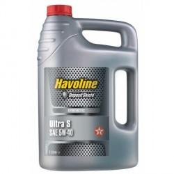 Texaco Havoline Ultra S 5W-40 Huile Moteur 100% synthèse bidon de 5L