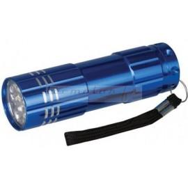 Torche lampe à LED en aluminium 9 LED