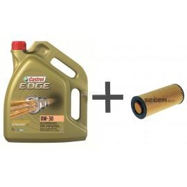 Pack vidange huile moteur 0w30 filtre à huile Purflux L369 pour BMW 2.5d 3.0d 3.5d