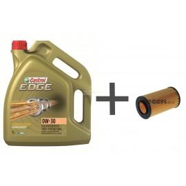 Pack vidange huile 0w30 filtre à huile Purflux L307 pour BMW 520D, 320D, 318D, TD