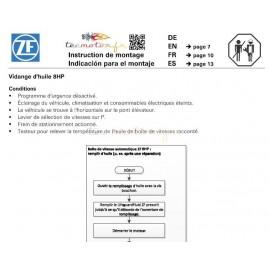 Procédure de vidange de boite automatique ZF 8 vitesses