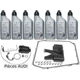 Kit vidange boite DSG 7 vitesses Audi avec cartouche filtrante et huile d'origine Audi