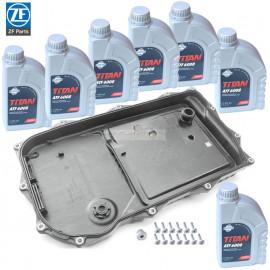 Kit vidange ZF huile Fuchs pour boite automatique ZF 8HP45-70 carter plastique
